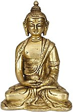Bermoni Buddha Seduto meditando Scultura Statua -
