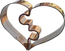 bestomz 2pcs forma cuore stampi in acciaio
