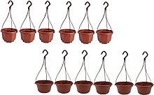 BESTonZON 12Pcs di Plastica Hanging Planter