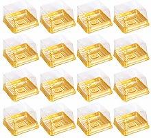 BESTonZON, 50 scatole quadrate in plastica Dorata