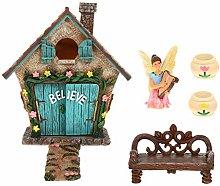 BESTonZON 6Pcs Fata Casa da Giardino in Miniatura