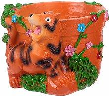 BESTonZON Animale Succulente Vaso Resina Animale