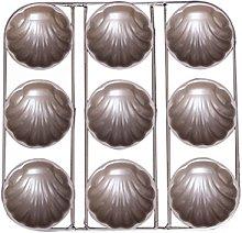 BESTonZON Madeleine - Stampo da forno con 9