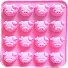 BESTonZON Stampo in silicone a forma di maiale per