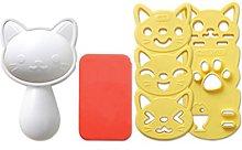 Bestonzon, stampo per riso a forma di gatto, per
