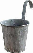 BESTonZON Vaso da Fiori in Metallo Secchio Vaso