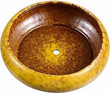 BESTonZON Vaso Rotondo Succulente Vaso di Ceramica