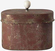Better & Best Scatola Ovale Rosso Invecchiato,