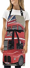 BEUSS UK Bus Rosso Grembiule Pittura da Cucina