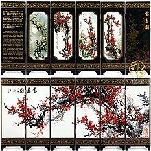 BEYOHIR Arte Tradizionale Cinese a 6 Pannelli per