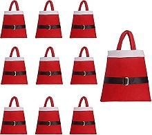 BHSHUXI Set di 10 Sacchi di Babbo Natale in