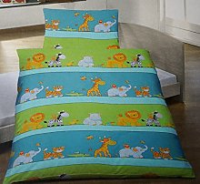 Biancheria da letto con animali per bambini.