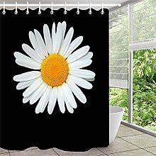 Bianco crisantemo tenda da doccia tenda da bagno