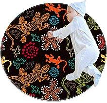 Biaoya - Tappeto circolare lavabile per cucina,