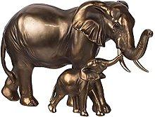 BIAOYU Scultura A Pair Elefante Scultura Ornamento