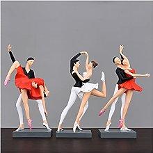 BIAOYU Scultura Ballerini Art Figurine Moderna