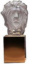 BIAOYU Scultura di Cristallo Leone Scultura