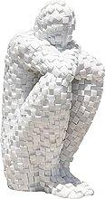 BIAOYU scultura mosaico persone statua ornamenti