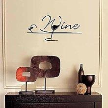 Bicchiere da vino Adesivo da parete Cucina Vino