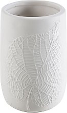 Bicchiere porta spazzolini da appoggio White