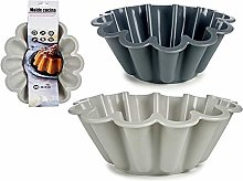 BigBuy Home S3606722 Stampo per flan, Silicone, 2