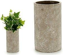 Bigbuy Home - Vaso Dungi Cemento (15 x 25 x 15 cm)
