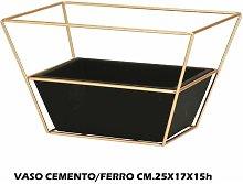 Bighouse It - VASO CEMENTO + METALLO CM.25X17X15h