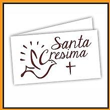 Bigliettini Bomboniera Cresima - Biglietti per