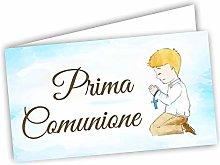 Bigliettini Bomboniera Prima Comunione Maschio -