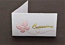 Bigliettini x Bomboniera per BATTESIMO e NASCITA