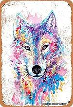 BIGYAK Fantasy Wolf metallo 20,5 x 30,8 cm