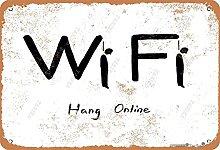 BIGYAK Wifi Hang Online Vintage Look 20 x 30 cm