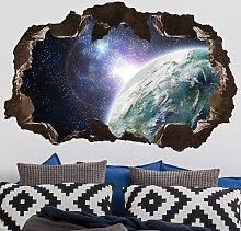 Bilderwelten - Adesivo murale 3D - Galaxy Light -