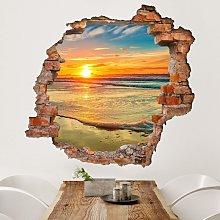Bilderwelten - Adesivo murale 3D - Golden Sunrise