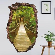 Bilderwelten - Adesivo murale 3D - Jungle Bridge -
