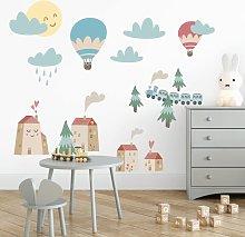 Bilderwelten - Adesivo murale bambini - Casette e