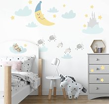 Bilderwelten - Adesivo murale bambini - Lune e