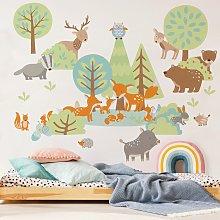 Bilderwelten - Adesivo murale - Famiglie animali
