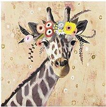 Bilderwelten Quadro in Vetro - Klimt Giraffe - 30