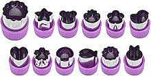 BINGFANG-W 12 PZ/Set Cute Cartoon Cookie Stamp