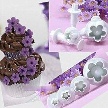 BINGFANG-W 4pcs Cookie Cutter Plum Blossom