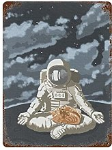 Bingyingne Tin Office Art Space Astronauta e Gatto