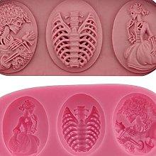 Bingyu - Stampo per cupcake a forma di ragazza,