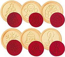 Biscotti Del Biscotto Del Silicone Di Natale Dei
