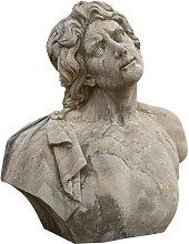 Biscottini - Busto uomo in pietra L78xPR35xH80 cm