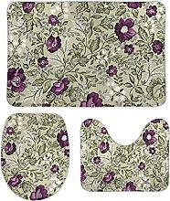 Blooming 117 - Set di 3 tappetini da bagno, 3