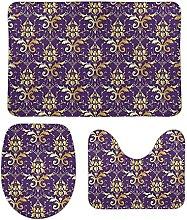 Blooming - Set di 3 tappetini da bagno per bagno,