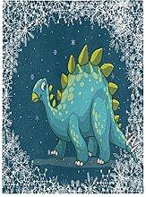 Blu Dinosauro Bandiera del Giardino Banner