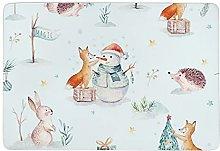 Blu Natale Pasqua coniglietto, cucina tappeto
