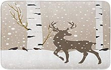 Blu Neve Paesaggio Invernale Cervo Uccelli E